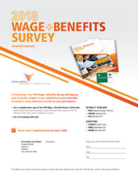 2018 Wage + Benefits Survey