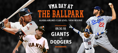 VMA Day at the Ballpark - Giants vs. Dodgers